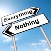 pensée tout ou rien, pensée négative