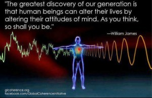 The greatest discovery of my generation is that a human being can alter his life by altering his attitudes. William James